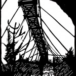 Swinging Bridge, Grandfather Mountain, 12 x 18, 2008