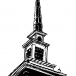 Steeple, metal drawing, dimensions variable, 2008